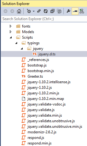 A Definitely Typed declaration file for jQuery.