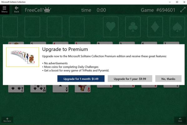 Solitaire upgrade